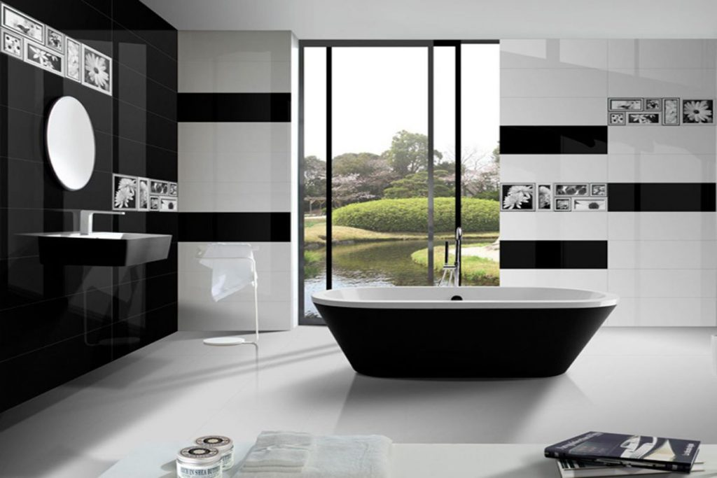 Black and White Bathroom Trend Still Going Strong